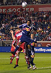Diego Jimenez of the New York Red Bulls header