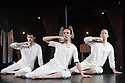 """Oxford, UK. 26.10.2016. Company Chordelia and Solar Bear present """"Lady Macbeth: Unsex Me Here"""", choreographed by Kally Lloyd-Jones, in collaboration with the cast. Lighting design is by Laura Hawkins, with set and costume design by Janis Hart. The cast is: Thomas Baylis, Jacob Casselden, Jack Webb. Photograph © Jane Hobson."""