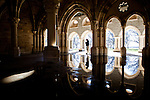 The New Clairvaux Abbot Paul Mark Schwan walks through their unfinished Chapter House at their monastery in Vina, Calif., January 2, 2013. The Chapter House is built from 12th century stones from the Chapter House of Ovila in Spain. Originally purchased by William Randolph Hearst, they were left abandoned in San Francisco's Golden Gate Park for over 60 years.