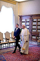 Pope Francis meets President of Bulgaria Rossen Plevneliev, Vatican, Italy - 16 May 2016