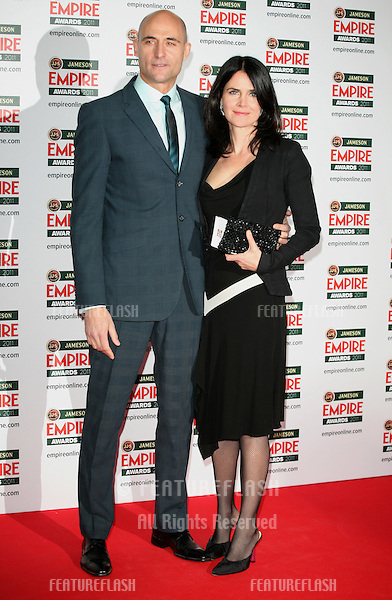 Mark Strong and wife Liza Marshall arriving for the Jameson Empire Awards 2011, Grosvenor House Hotel, London. 27/03/2011  Picture by: Alexandra Glen / Featureflash