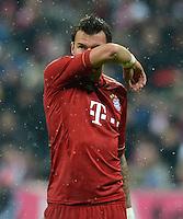 FUSSBALL   1. BUNDESLIGA  SAISON 2012/2013   9. Spieltag FC Bayern Muenchen - Bayer 04 Leverkusen    28.10.2012 Mario Mandzukic (FC Bayern Muenchen)
