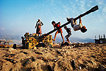 Children playing, near Beirut, Lebanon, 1982<br />