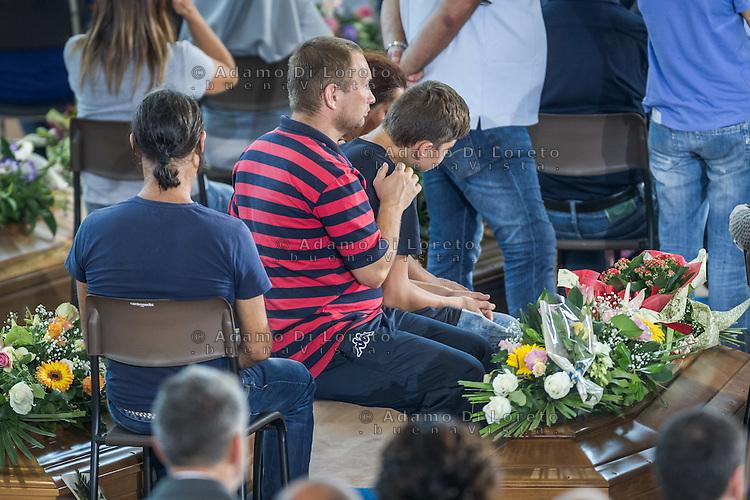 Funeral earthquake on PalaSport Monticelli in Ascoli Piceno  August 27, 2016, in Marche, Italy. Photo by Adamo Di Loreto