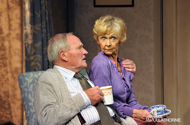 Julian Glover and Sheila Read in Maurice's Jubilee, Pleasance Theatre
