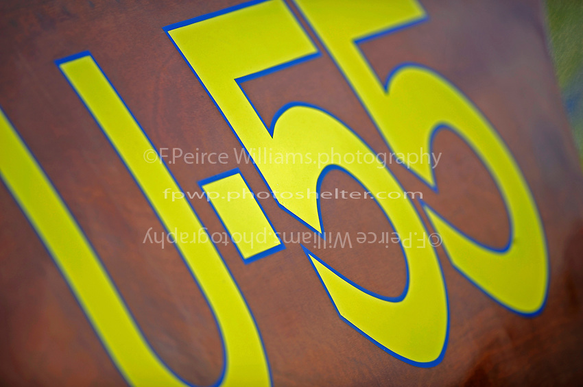"Detail: numbers, U-55 ""Gale V"" (replica of the 1955 Gold Cup winner)"