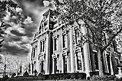 Brossler Mansion Dayton Ohio in Black & white
