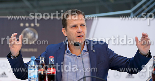 08.06.2015, Mercedes Benz Zenter, Koeln, GER, Nationalmannschaft, Pressekonferenz, im Bild Sportlicher Leiter Oliver Bierhoff // during a press conference of the german national football team at the Mercedes Benz Zenter in Koeln, Germany on 2015/06/08. EXPA Pictures &copy; 2015, PhotoCredit: EXPA/ Eibner-Pressefoto/ Sch&uuml;ler<br /> <br /> *****ATTENTION - OUT of GER*****