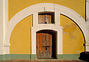 doorway & arch, San Cristóbal fortress at San Juan National Historic Site, Old San Juan, Puerto Rico..