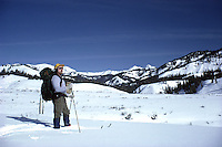 Ski Mountaineering, A cross country skier Daryl Hunter off for a winter camping trip.