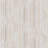 Tatami, a hand-cut stone mosaic, shown in polished Thassos and Bursa Beige.
