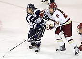 Sarah Campbell (UNH - 26), Meagan Mangene (BC - 24) - The Boston College Eagles and the visiting University of New Hampshire Wildcats played to a scoreless tie in BC's senior game on Saturday, February 19, 2011, at Conte Forum in Chestnut Hill, Massachusetts.