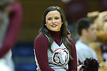 22 March 2015: MSU cheerleader. The Duke University Blue Devils hosted the Mississippi State University Bulldogs at Cameron Indoor Stadium in Durham, North Carolina in a 2014-15 NCAA Division I Women's Basketball Tournament second round game. Duke won the game 64-56.