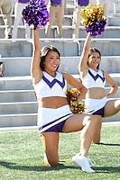 AUG 16, 2014:  University of Washington cheerleader Megan Ingram during Football Picture Day at Husky Stadium in Seattle, Washington