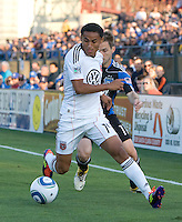 Andy Najar of DC United in action during the game against the Earthquakes at Buck Shaw Stadium in Santa Clara, California on July 30th, 2011.   DC United defeated San Jose Earthquakes, 2-0.