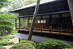 Photo shows  the outside view of the 2nd floor  of the main building of the Honma Museum of Art in Sakata, Yamagata Prefecture, Japan, on July 06, 2012. Construction of the garden and reception room was started around 200 years ago, but the 2nd floor was added in 1920 in anticipation of visit from the then-emperor. Photographer: Robert Gilhooly