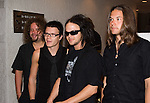"""Eero Heinonen, Aki Hakala, Laurie Ylonen and Pauli Rantasalmi, members of The Rasmus music band, give a press conference as they promote their album """"Hide From The Sun"""", April 06, 2006, in Mexico City... Photo by © Javier Rodriguez"""