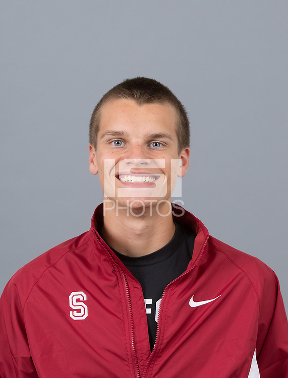 STANFORD, CA - SEPTEMBER 24, 2014--Patrick Perrier, with Stanford University Cross Country Team