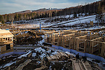 New construction at a ski resort on Saturday, October 19, 2013 in Baikalsk, Russia. With the Baikalsk Pulp and Paper Mill shutting down in the near future, tourism is the best hope for the local economy.
