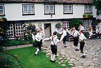 Morris Dancers dancing in Cambridge, England, United Kingdom.