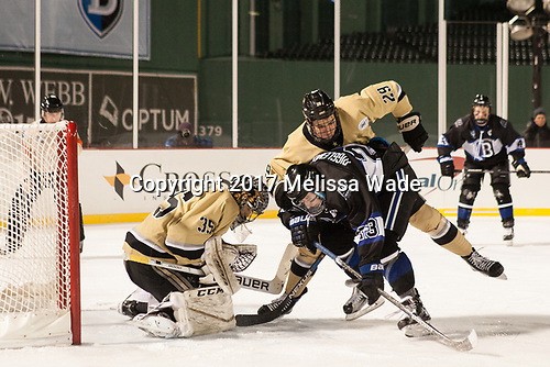 Parker Gahagen (Army - 35), Mike Preston (Army - 29), Matt Riggleman (Bentley - 23) - The Bentley University Falcons defeated the Army West Point Black Knights 3-1 (EN) on Thursday, January 5, 2017, at Fenway Park in Boston, Massachusetts.The Bentley University Falcons defeated the Army West Point Black Knights 3-1 (EN) on Thursday, January 5, 2017, at Fenway Park in Boston, Massachusetts.