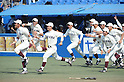 Waseda team group,.JUNE 18, 2012 - Baseball :.Waseda University players celebrate winning the 61st All Japan University Baseball Championship Series Final game between Asia University 0-4 Waseda University at Jingu Stadium in Tokyo, Japan. (Photo by Hitoshi Mochizuki/AFLO)