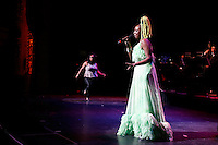 New York, United States. 23th March 2014 - Singer Lucrecia Pérez Sáez performs during a special concert to commemorate the life and legacy of Celia Cruz at the Apollo theater in Harlem, New York. Photo by Eduardo Munoz Alvarez/VIEW