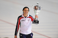 SCHAATSEN: ERFURT: Gunda Niemann Stirnemann Eishalle, 22-03-2015, ISU World Cup Final 2014/2015, winner 1000m Ladies World Cup, Brittany Bowe (USA), ©foto Martin de Jong