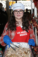 Los Angeles, CA - NOVEMBER 23: Marlowe Peyton, At Los Angeles Mission Thanksgiving Meal For The Homeless At Los Angeles Mission, California on November 23, 2016. Credit: Faye Sadou/MediaPunch