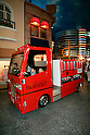 "KIDZANIA TOKYO, ""Edutainment City"",.children on duty, driving the firetruck."