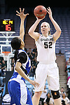 23 March 2014: Michigan State's Becca Mills (52). The Michigan State University Spartans played the Hampton University Lady Pirates in an NCAA Division I Women's Basketball Tournament First Round game at Cameron Indoor Stadium in Durham, North Carolina. Michigan State won the game 91-61.