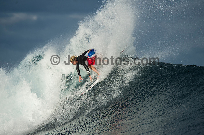 Namotu Island Resort, Namotu, Fiji. (Wednesday June 4, 2014) Kolohe Andino (USA) – Free surfing session went down this morning while organises debated a starting time for the Fiji Pro. Photo: joliphotos.com