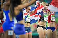 Team GB Jessica Ennis-Hill  800m heptathlon race. <br /> Rio de Janeiro, Brazil on August 13, 2016<br /> CAP/CAM<br /> &copy;Andre Camara/Capital Pictures /MediaPunch ***NORTH AND SOUTH AMERICAS ONLY***