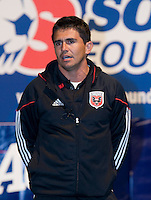 DC United player Jaime Moreno speaks during a US Soccer Foundation clinic held at City Center in Washington, DC.