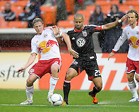 D.C. United forward Santos Maicon (29) goes against New York Red Bulls defender Jan Gunnar Solli (8)  D.C. United defeated The New York Red Bulls 4-1 at RFK Stadium, Sunday April 22, 2012.