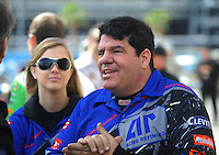 Apr. 1, 2012; Las Vegas, NV, USA: NHRA funny car driver Terry Haddock during the Summitracing.com Nationals at The Strip in Las Vegas. Mandatory Credit: Mark J. Rebilas-
