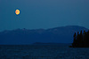 Atlin Lake moonrise
