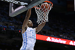 16 December 2015: North Carolina's Brice Johnson dunks the ball. The University of North Carolina Tar Heels hosted the Tulane University Green Wave at the Dean E. Smith Center in Chapel Hill, North Carolina in a 2015-16 NCAA Division I Men's Basketball game. UNC won the game 96-72.