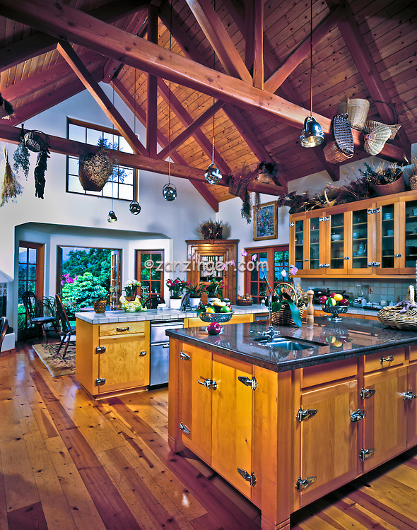 Perfect Country, Kitchen, Interior, A Frame Ceiling, Double Island, Interior  590 x 750 · 340 kB · jpeg