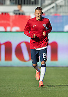 03 June 2012: US Men's National Soccer Team midfielder Fabian Johnson #23 in action during the warm-up in an international friendly  match between the United States Men's National Soccer Team and the Canadian Men's National Soccer Team at BMO Field in Toronto..The game ended in 0-0 draw..
