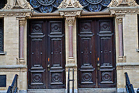 Door, Museum at Eldridge Street, Eldridge Street Synagogue, built in 1887, architect Herter Brothers, Manhattan, New York City, New York, USA