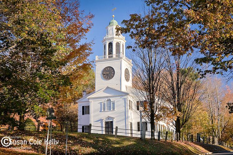 Autumn at the Church on the Hill, Lenox, Berkshire Hills, MA, USA