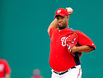 1 March 2011: Washington Nationals' pitcher Livan Hernandez on the mound during a Spring Training game against the New York Mets at Space Coast Stadium in Viera, Florida. The Nationals defeated the Mets 5-3 in Grapefruit League action. Mandatory Credit: Ed Wolfstein Photo