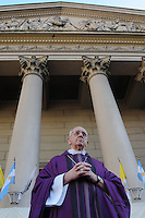 Newly elected Pope Jorge Berboglio , Francis I, file picture, mass at Buenos Aires Cathedral