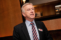 Graham Penny addresses the guests