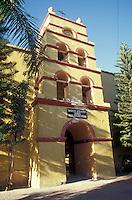 The Iglesia de Nuestra Senora del Pilar church in the Spanish colonial town of Todos Santos , Baja California Sur, Mexico