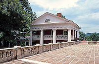 Thomas Jefferson: University of Virginia--Rotunda Terrace, West Wing.  Photo '85.