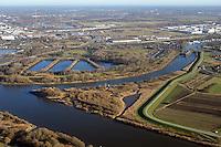Spadenlaender Spitze: EUROPA, DEUTSCHLAND, HAMBURG, BERGEDORF, (EUROPE, GERMANY), 2.12.2016: Spadenlaender Spitze, Zufluss der Dove Elbe in den Hauptstrom