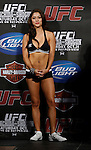 October 23, 2009; Los Angeles, CA; USA;  Octagon Girl Arianny Celeste takes the stage for the weigh-in between Champion Lyoto Machida and challenger Mauricio Rua.  The two will meet tomorrow night in the headliner of UFC 104 at the Staples Center in Los Angeles, CA.