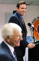 .Ken Macha was officially named the Oakland Athletics Manager by General Manager Billy Beane  at a press conference at the Networks Associate Coliseum, Tuesday.Photo: Ron Riesterer/2002